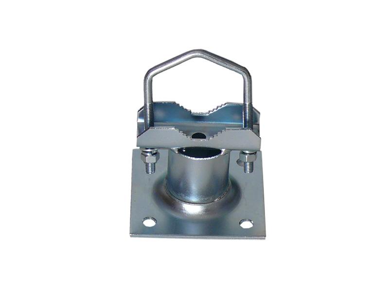 Rohrschelle für Ausleger bis 60mm Stahl feuerverzinkt 1 x Zahnsc