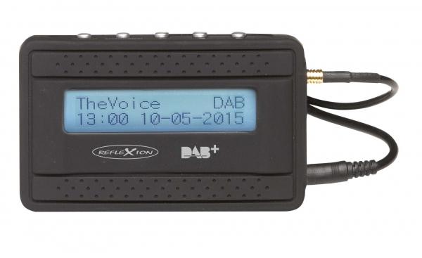 Reflexion AD55+ DAB+ Adapter mit FM-Transmitter Funktion, für zu Hause / Auto