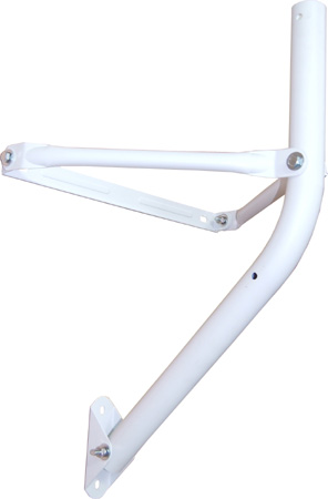Wand- Bodenhalter T90, Lichtgrau