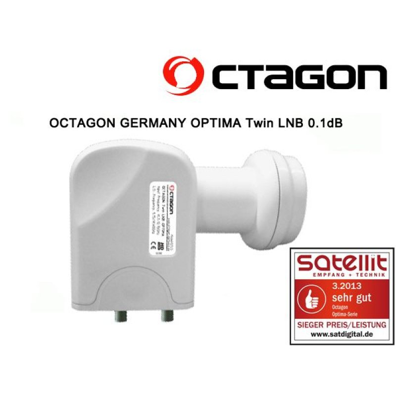Octagon Twin Optima OTLO LNB 0.1dB 3D Ready