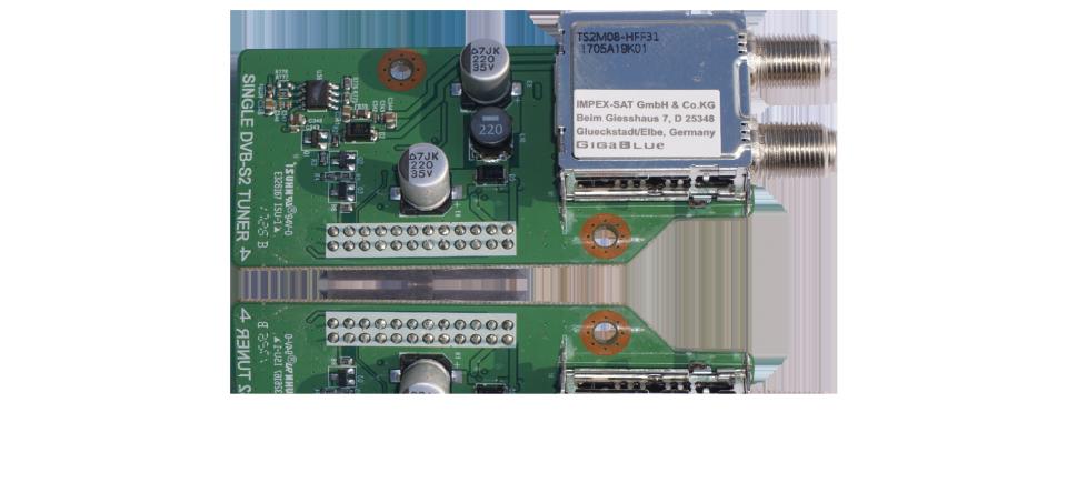Gigablue DVB-S2 Tuner für GigaBlue Quad UHD 4K, UE UHD 4K, X2 HD