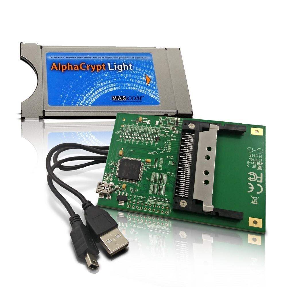 AlphaCrypt Light CI Modul Version R2.2 + HMP USB-CI Programmer für  Alphacrypt Module