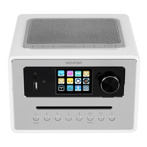NOXON iRadio 500 CD DAB/DAB+, UKW, Internetradio, Farbdisplay Weiss