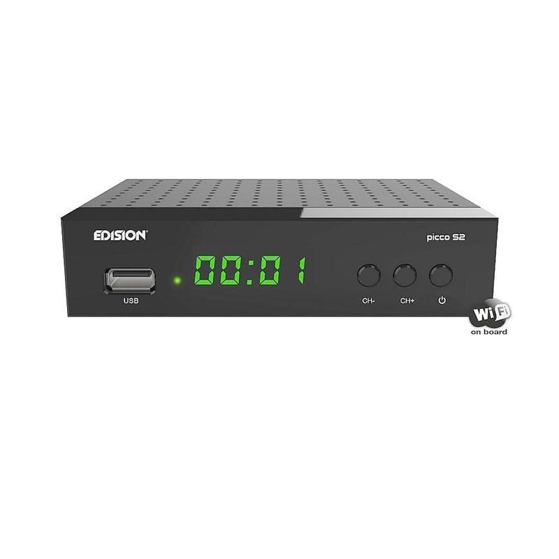 Edision Picco S2 Full HD SAT Receiver mit WLAN,Scart,HDMI Schwarz