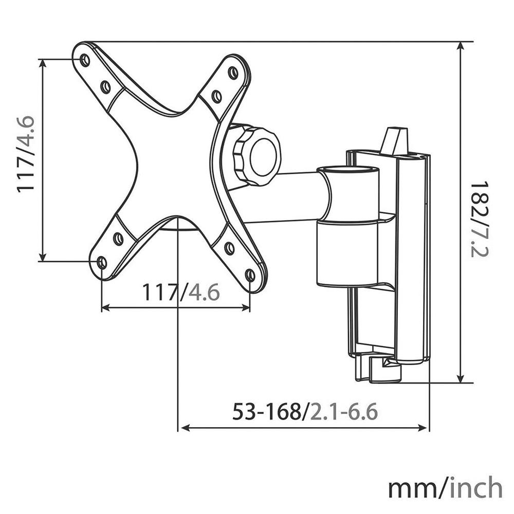 """LED / LCD TV-Wandhalterung für Bildschirme 13"""" - 30"""" (33 - 76 cm) Neigbar + Schwenkbar"""