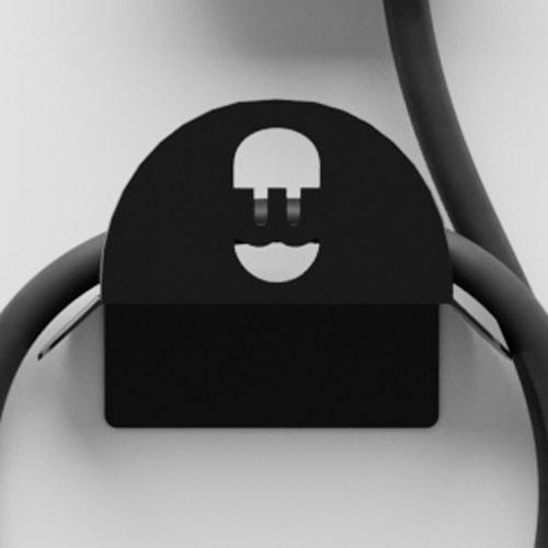Wallbox Kabel Halterung schwarz