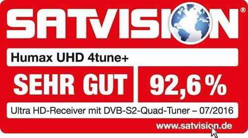 Humax UHD 4tune+ 12 Mon. HD+ + EyeCam
