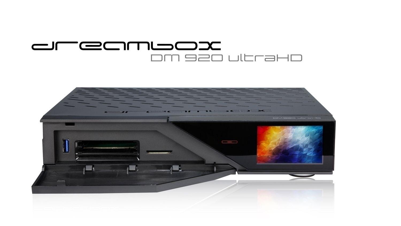 Dreambox DM920 UHD 4K 1x DVB-S2X MS Dual / 1x DVB-C FBC Tuner E2 Linux PVR Receiver