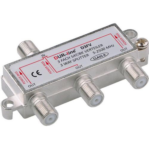 DUR-line BK-SAT- 3-fach Verteiler - Unicable tauglich