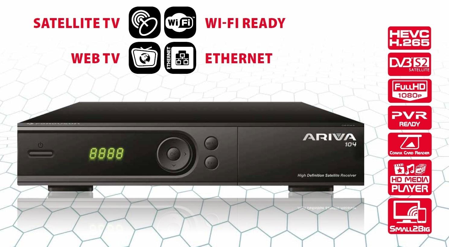 Ferguson Ariva 104 Full HD Tivu Sat inkl. Tivusat Smartcard Aktiviert