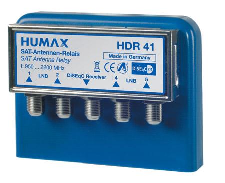 Humax HDR 41 4x1 DiSEqC 2.0 Relais mit Wetterschutzgehäuse (WSG)