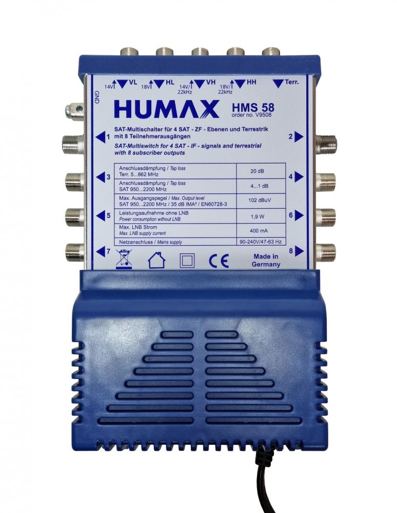 Humax HMS 58 Multischalter für 8 Teilnehmer